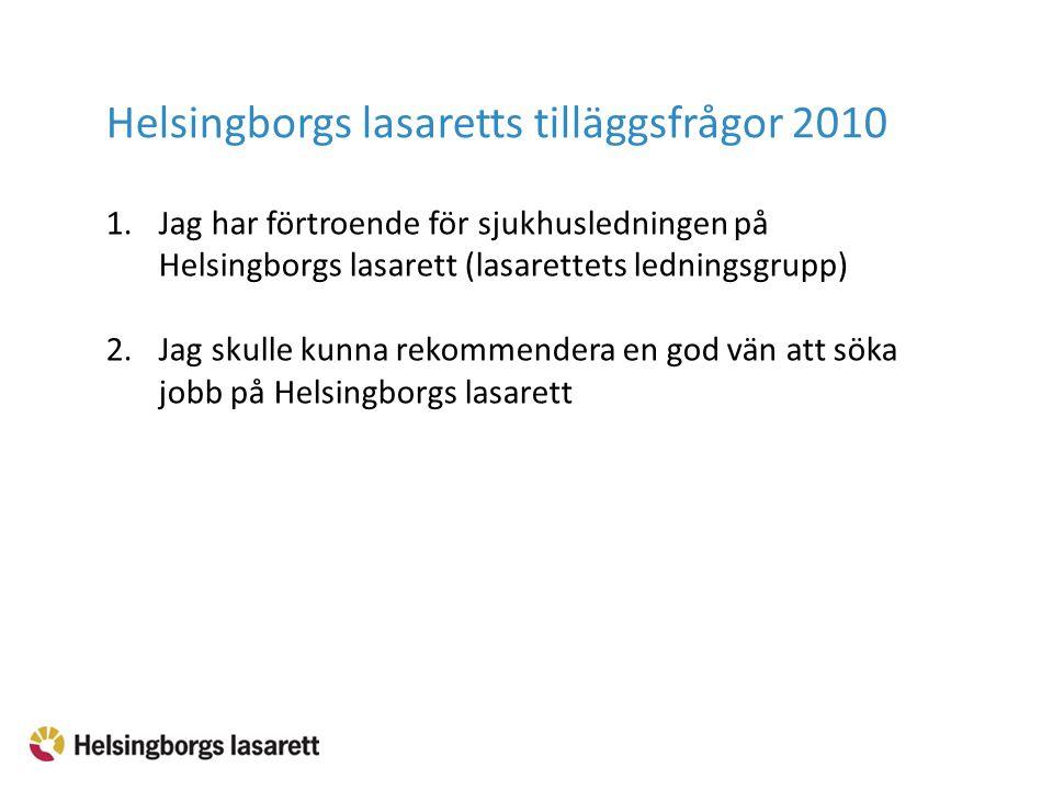 Helsingborgs lasaretts tilläggsfrågor 2010