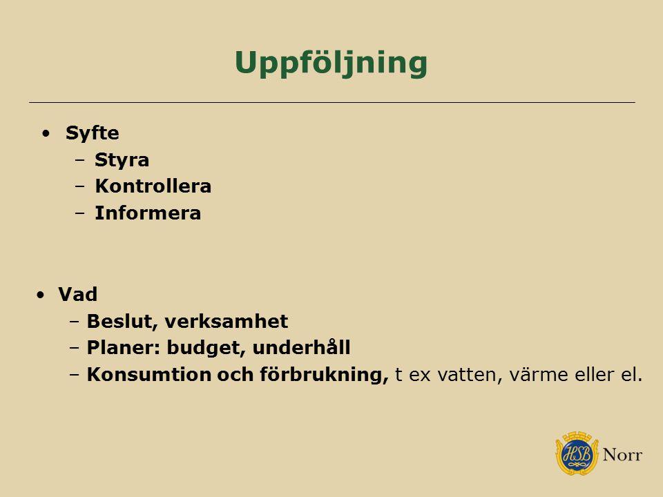 Uppföljning Syfte Styra Kontrollera Informera Vad Beslut, verksamhet