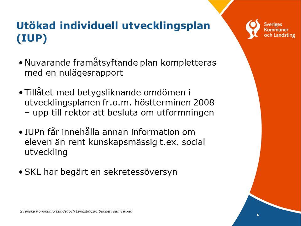 Utökad individuell utvecklingsplan (IUP)