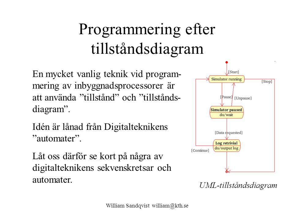 Programmering efter tillståndsdiagram