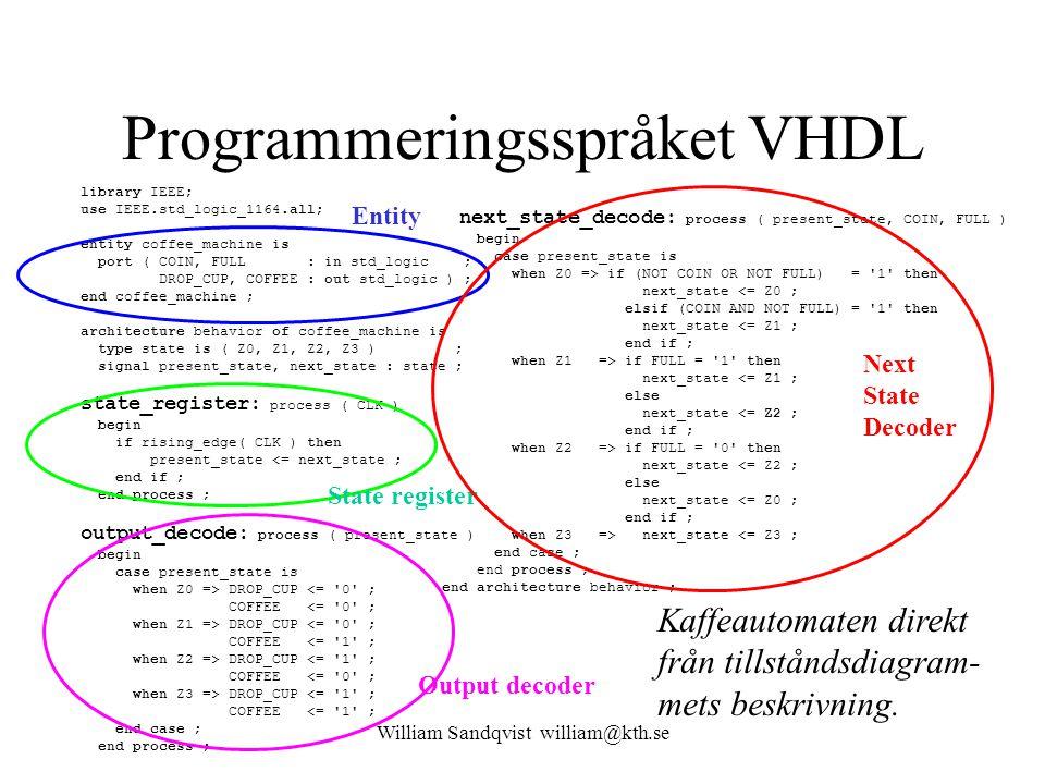 Programmeringsspråket VHDL