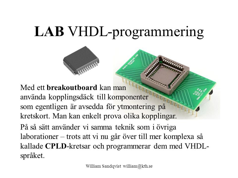 LAB VHDL-programmering
