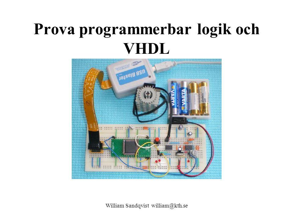 Prova programmerbar logik och VHDL