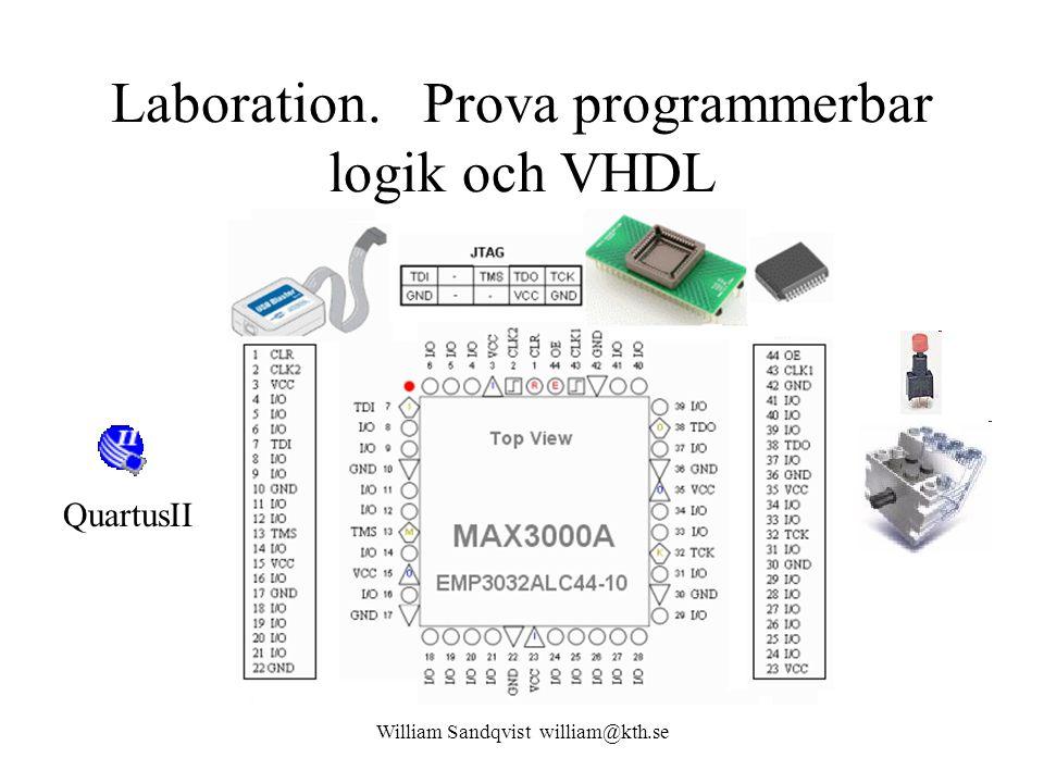 Laboration. Prova programmerbar logik och VHDL