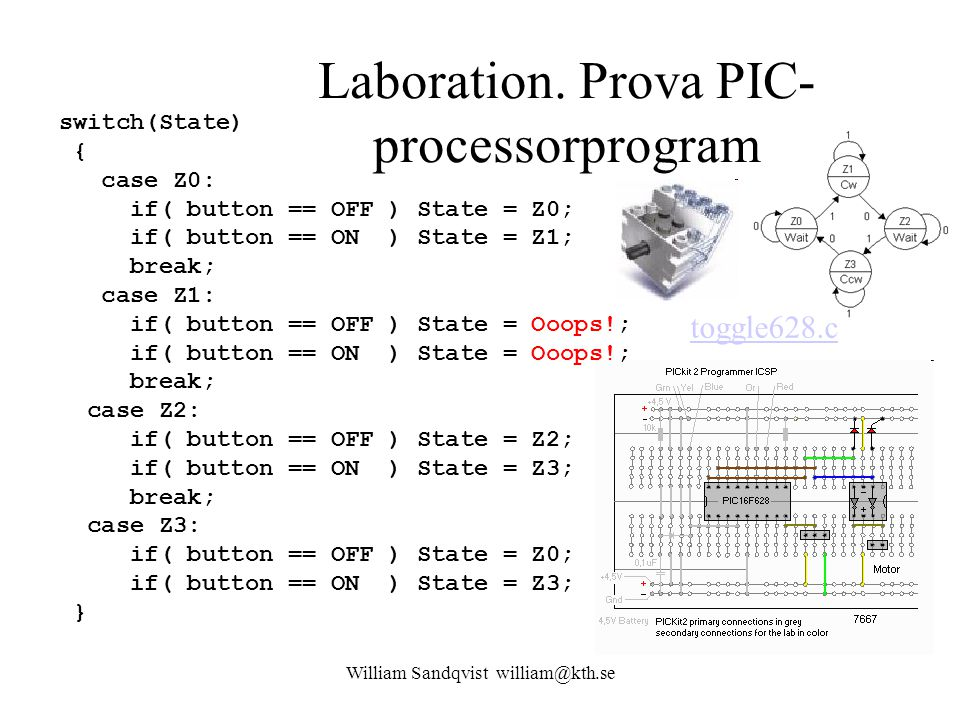 Laboration. Prova PIC-processorprogram