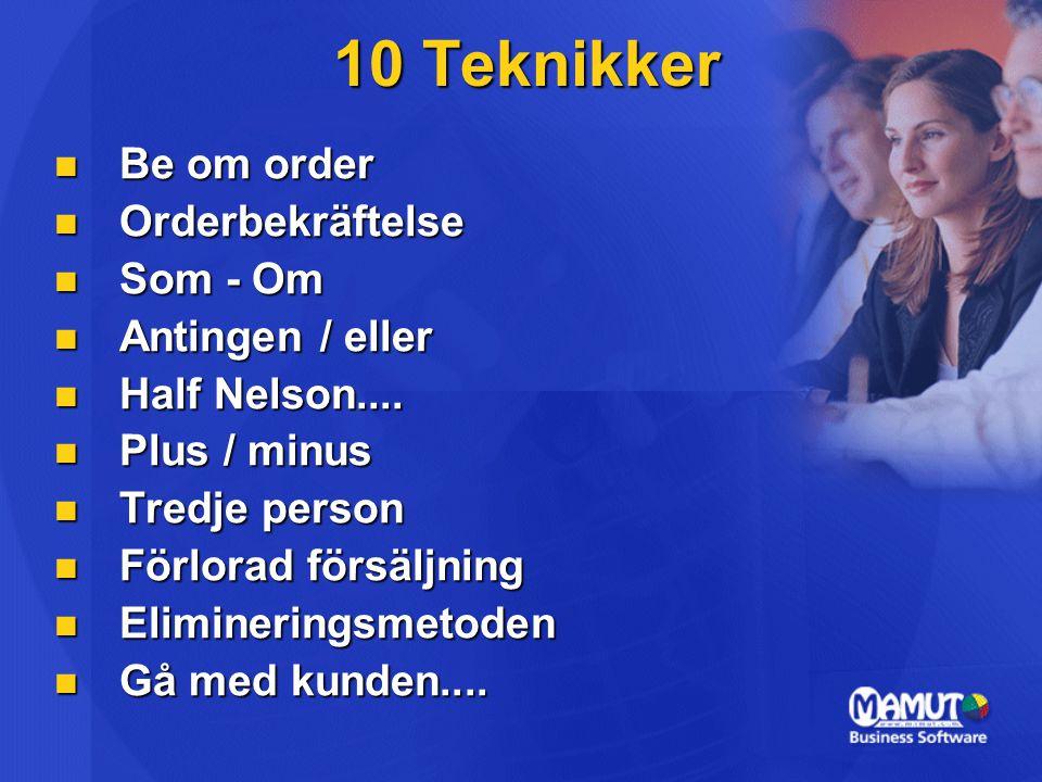 10 Teknikker Be om order Orderbekräftelse Som - Om Antingen / eller