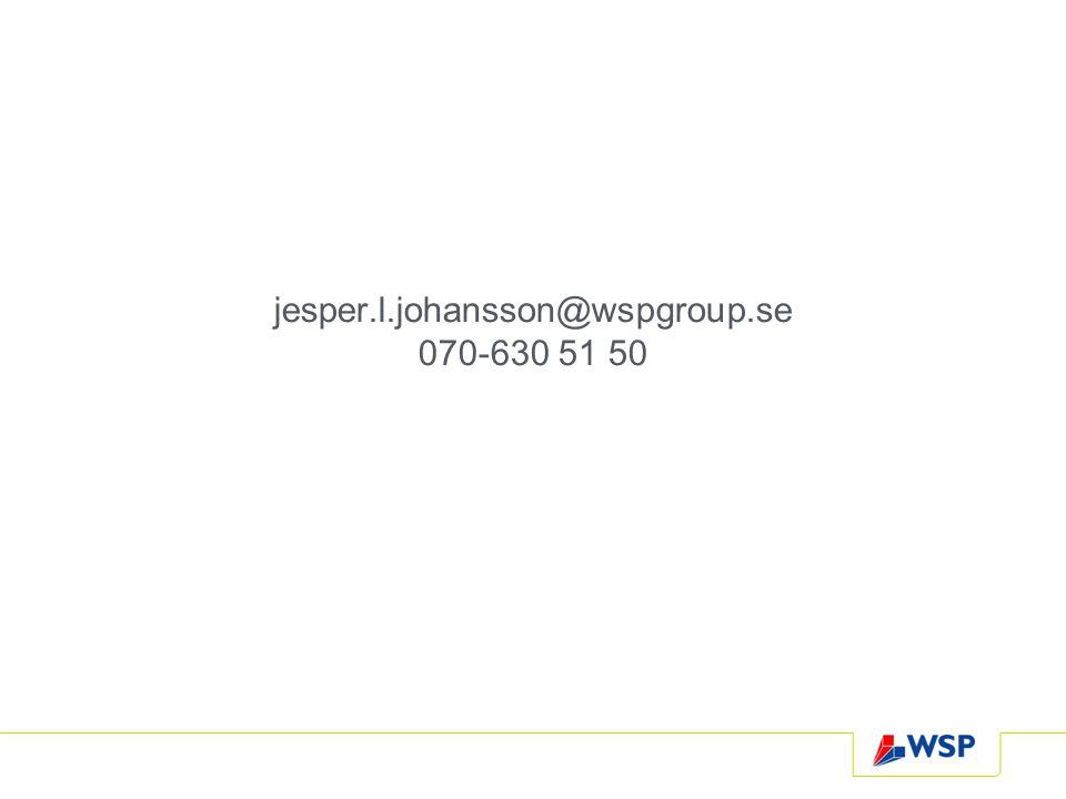 jesper.l.johansson@wspgroup.se 070-630 51 50