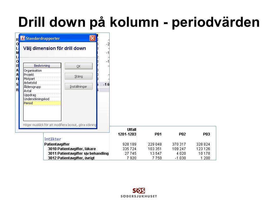 Drill down på kolumn - periodvärden