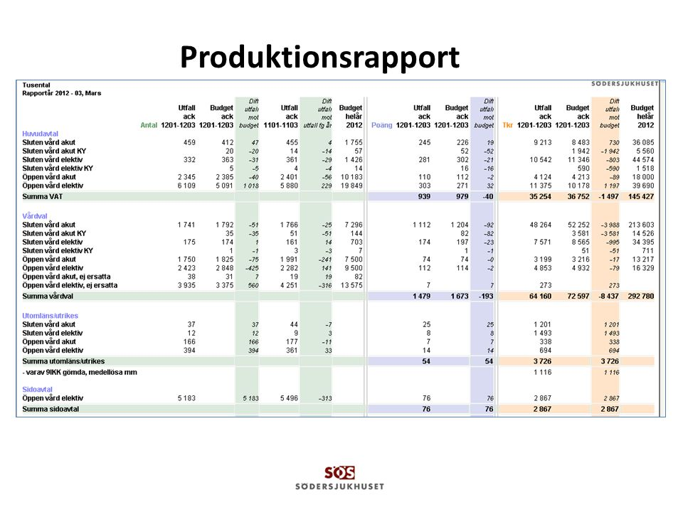 Produktionsrapport