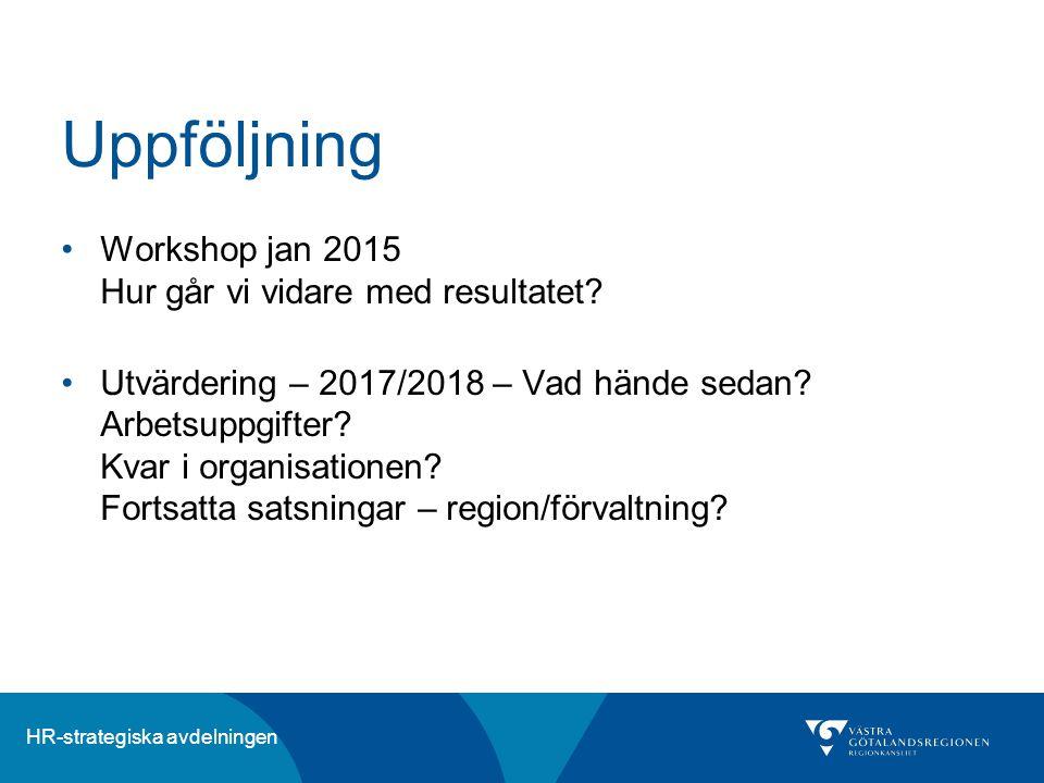 Uppföljning Workshop jan 2015 Hur går vi vidare med resultatet