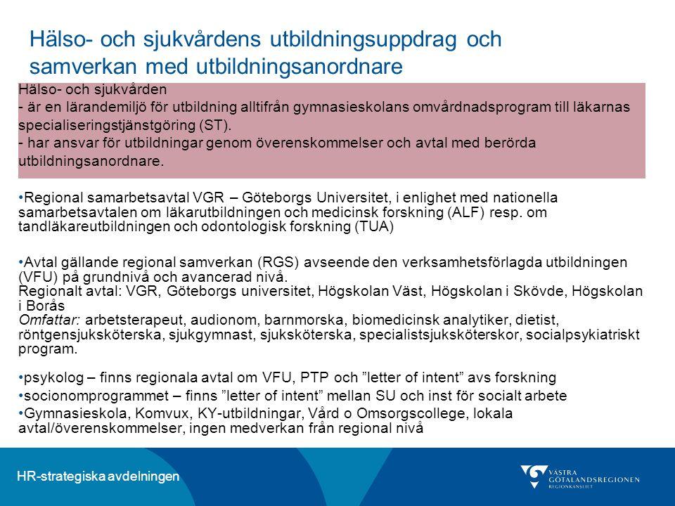 Hälso- och sjukvårdens utbildningsuppdrag och samverkan med utbildningsanordnare