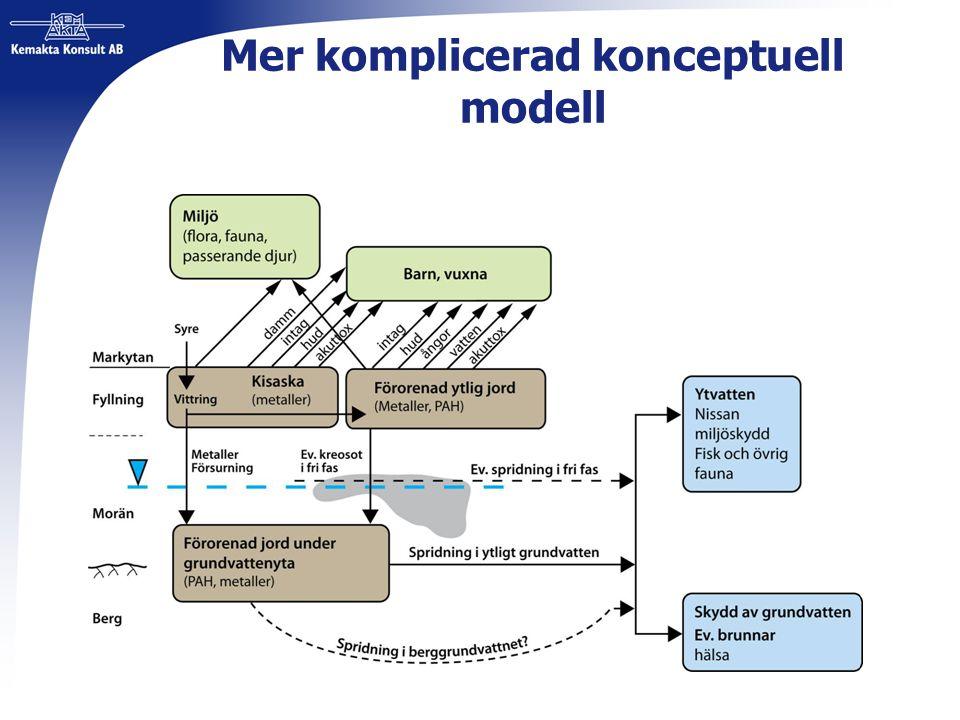Mer komplicerad konceptuell modell