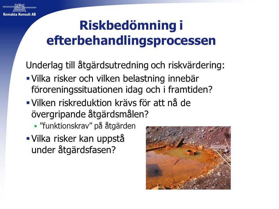 Riskbedömning i efterbehandlingsprocessen