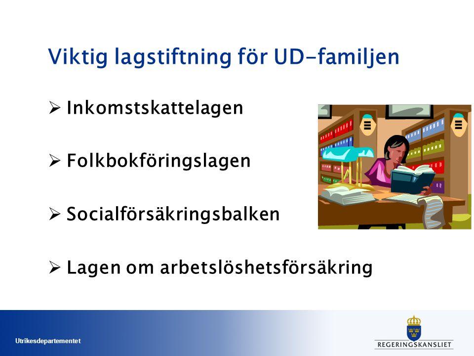 Viktig lagstiftning för UD-familjen