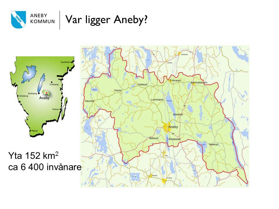 Var ligger Aneby Yta 152 km2 ca 6 400 invånare