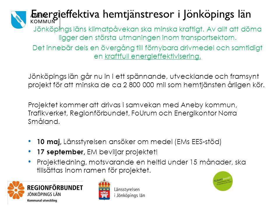 Energieffektiva hemtjänstresor i Jönköpings län