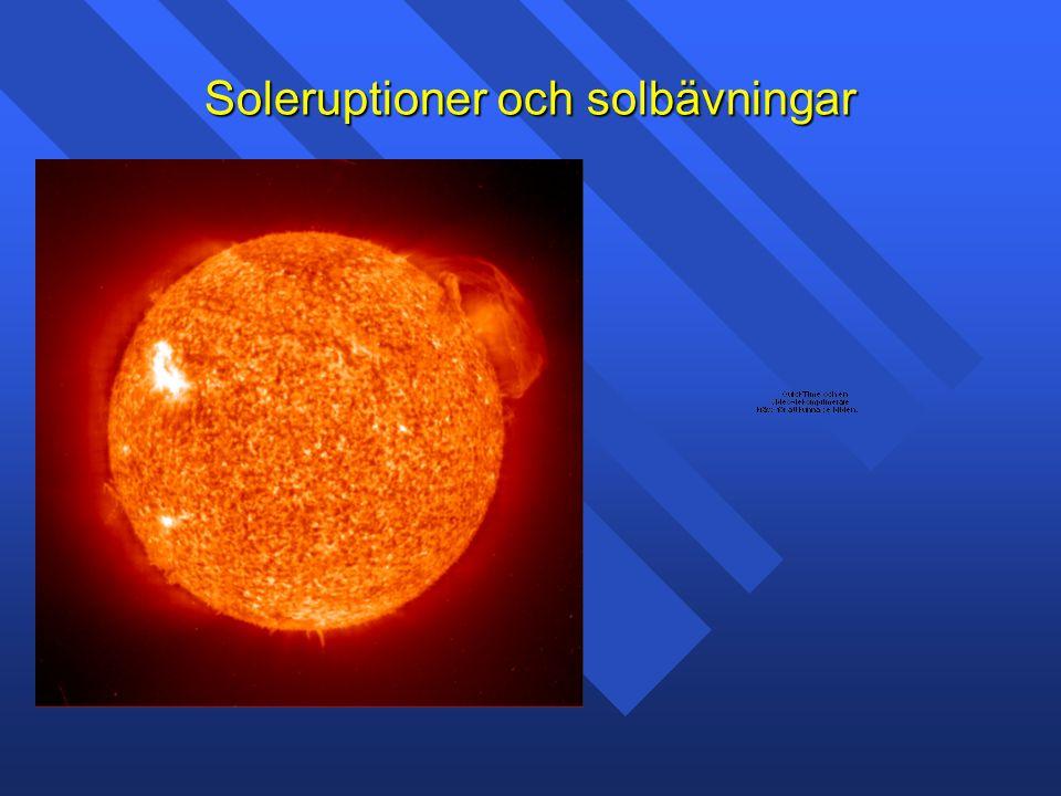 Soleruptioner och solbävningar