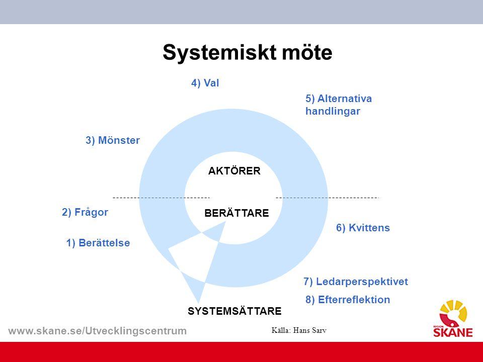 Systemiskt möte 4) Val 5) Alternativa handlingar 3) Mönster AKTÖRER