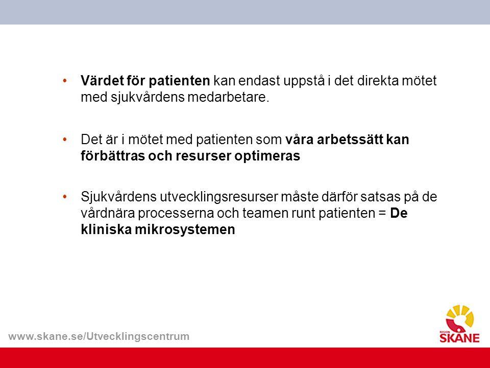 Värdet för patienten kan endast uppstå i det direkta mötet med sjukvårdens medarbetare.