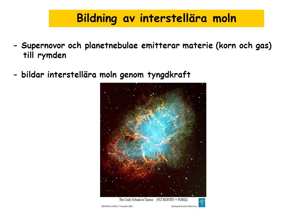 Bildning av interstellära moln