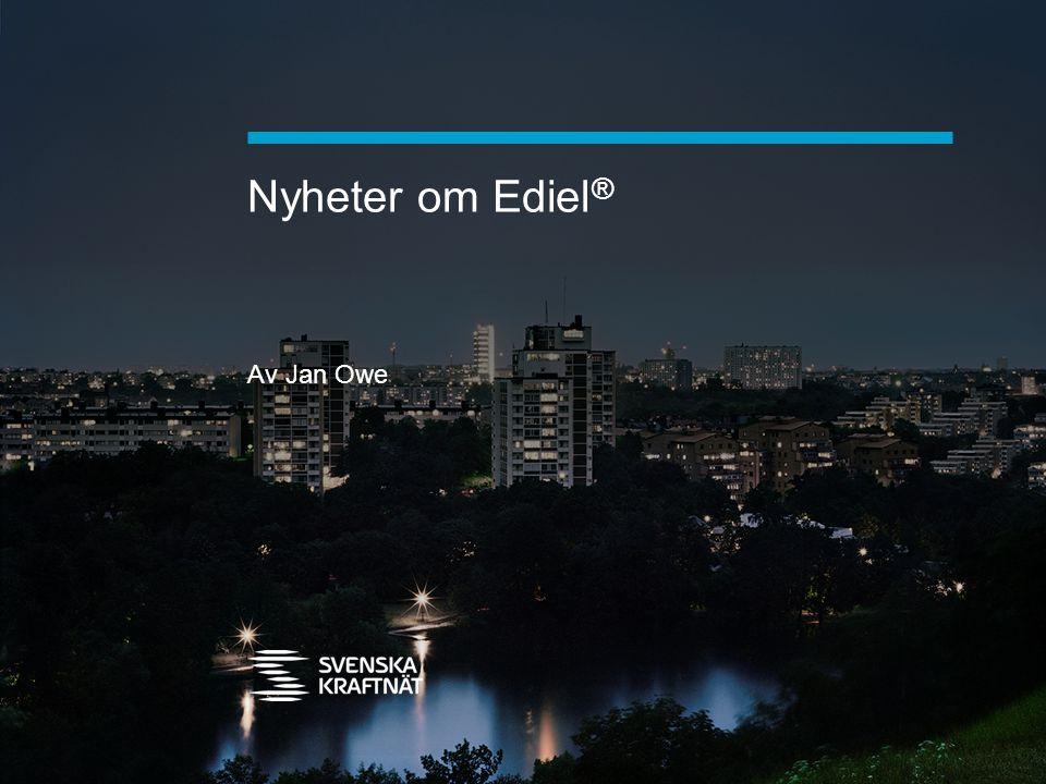Nyheter om Ediel® Av Jan Owe