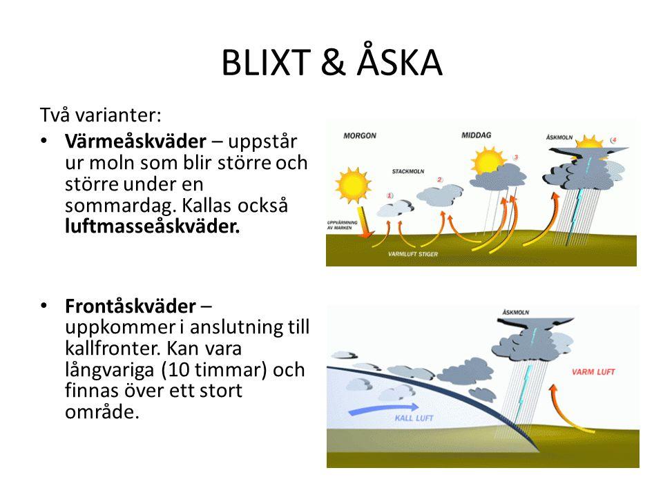 BLIXT & ÅSKA Två varianter:
