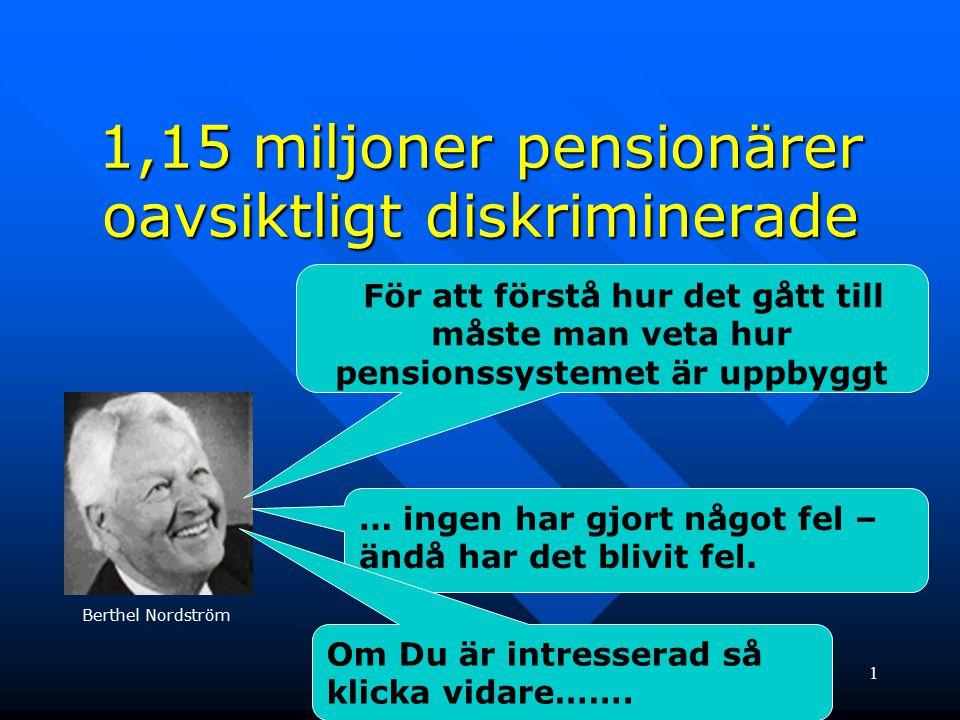 1,15 miljoner pensionärer oavsiktligt diskriminerade