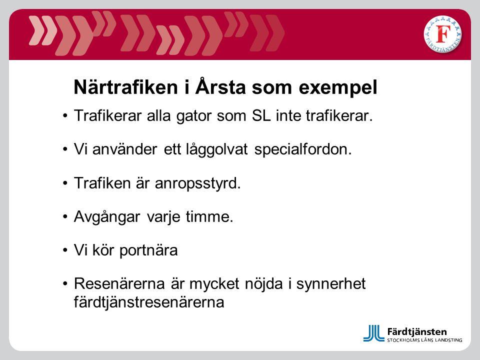 Närtrafiken i Årsta som exempel