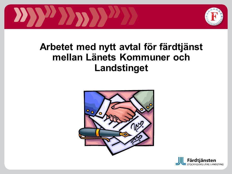 Arbetet med nytt avtal för färdtjänst mellan Länets Kommuner och Landstinget