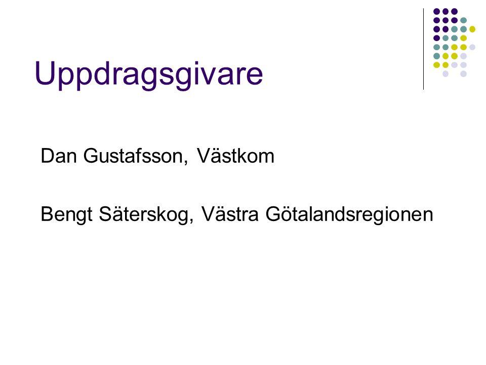 Uppdragsgivare Dan Gustafsson, Västkom