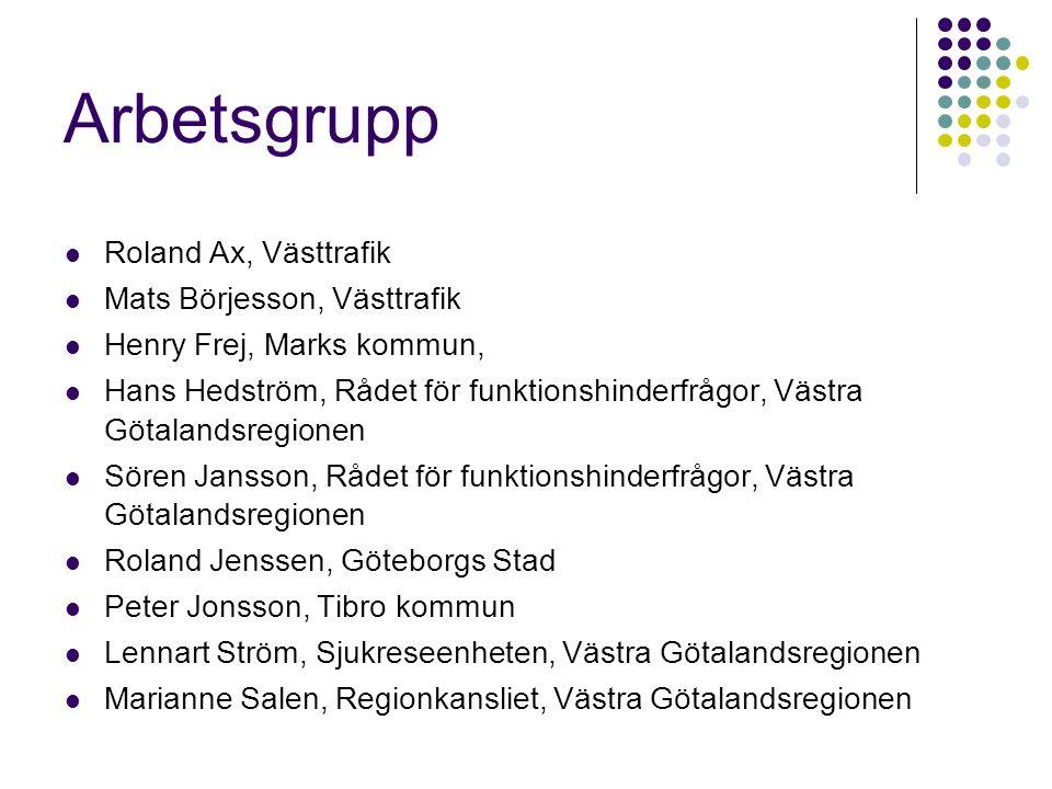 Arbetsgrupp Roland Ax, Västtrafik Mats Börjesson, Västtrafik
