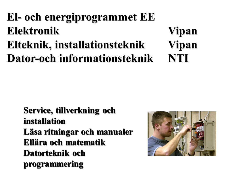 El- och energiprogrammet EE Elektronik Vipan