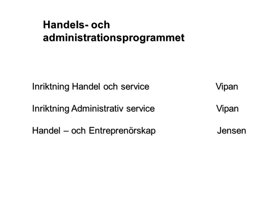 Handels- och administrationsprogrammet