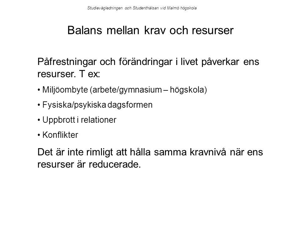 Balans mellan krav och resurser