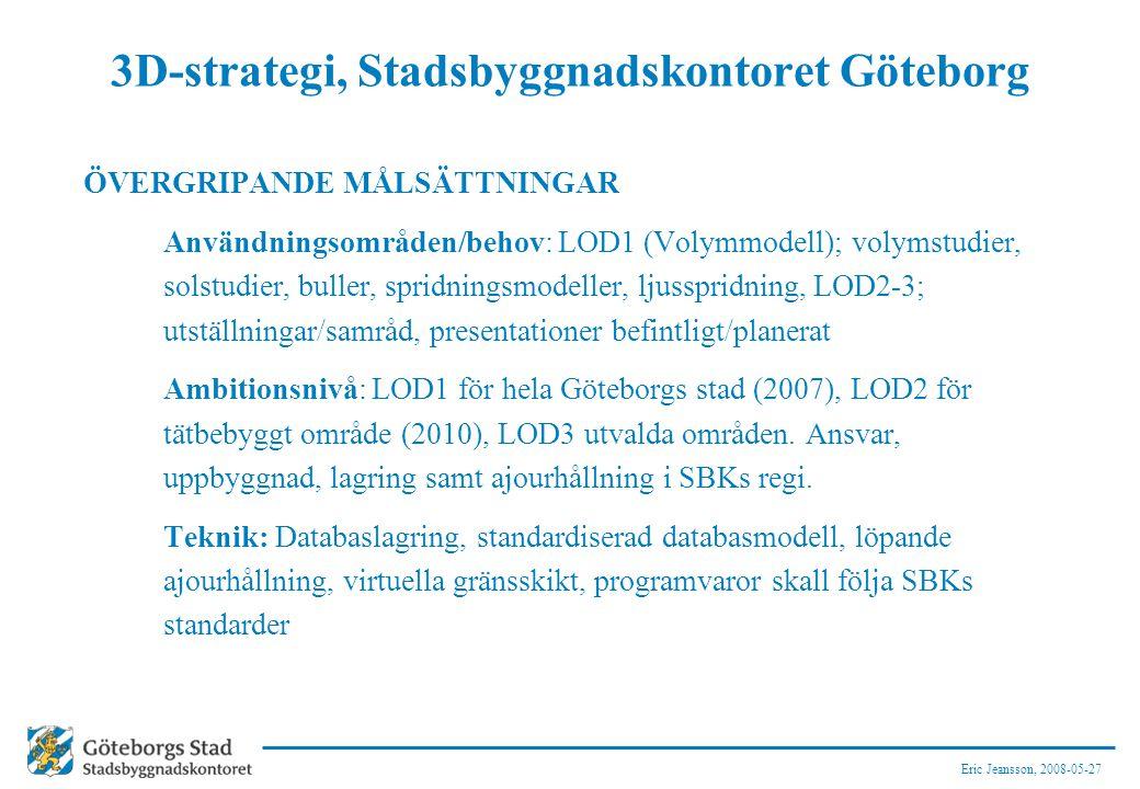 3D-strategi, Stadsbyggnadskontoret Göteborg