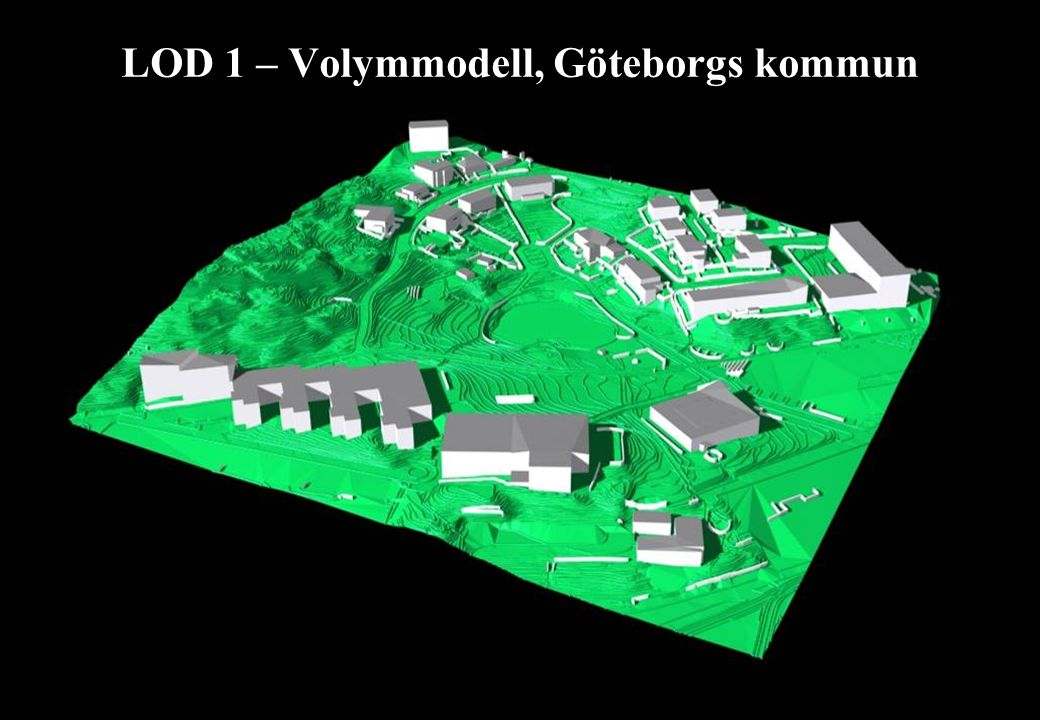 LOD 1 – Volymmodell, Göteborgs kommun