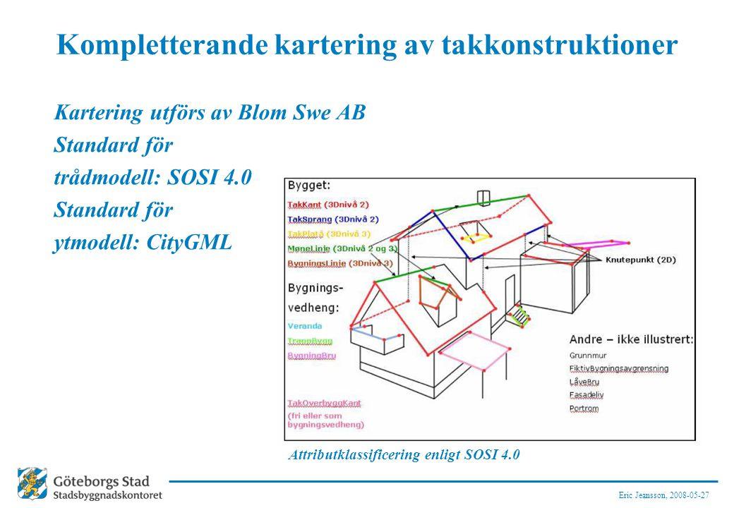 Kompletterande kartering av takkonstruktioner