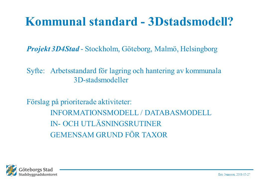 Kommunal standard - 3Dstadsmodell