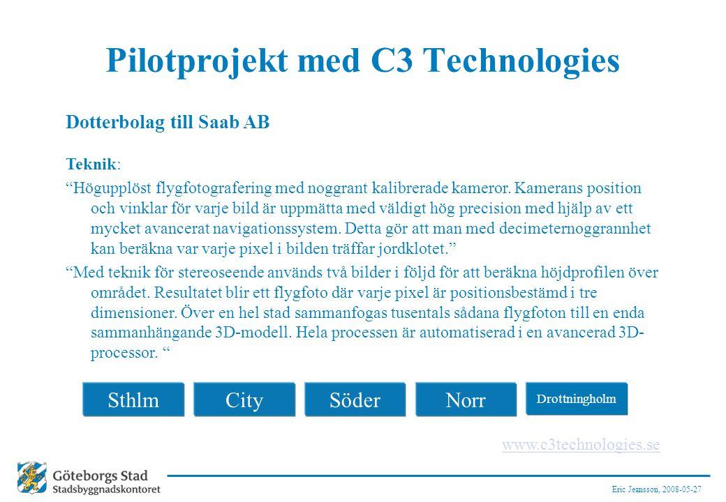 Pilotprojekt med C3 Technologies