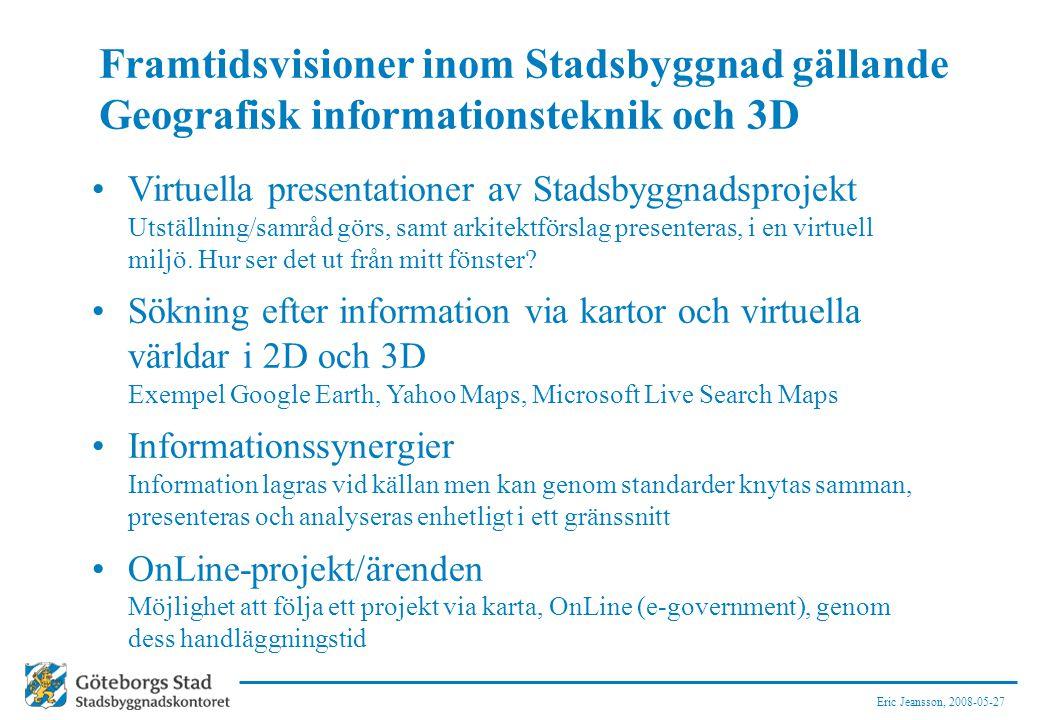 Framtidsvisioner inom Stadsbyggnad gällande Geografisk informationsteknik och 3D