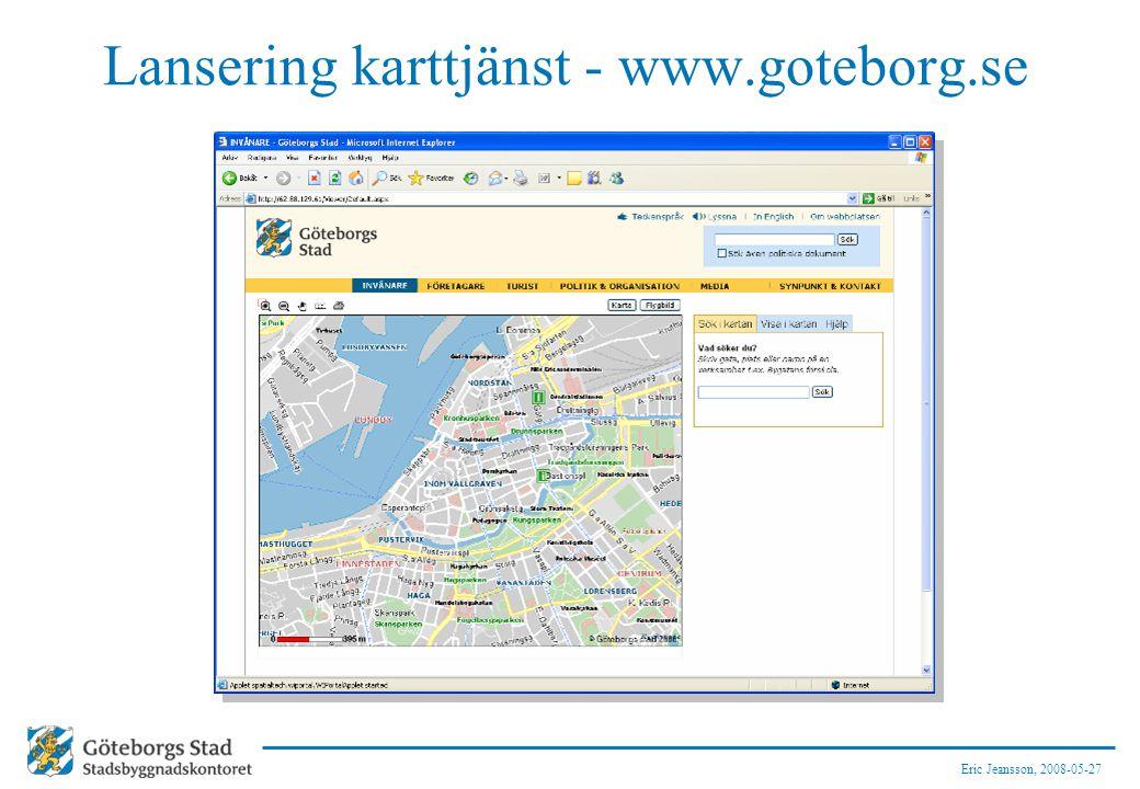 Lansering karttjänst - www.goteborg.se