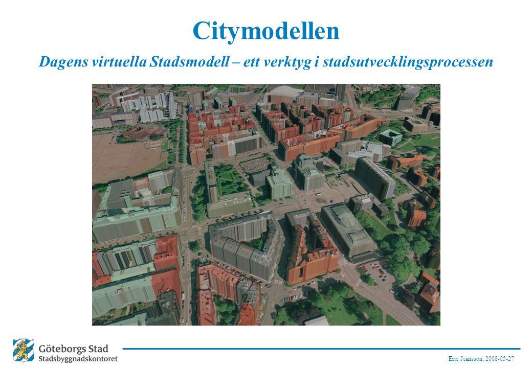 Dagens virtuella Stadsmodell – ett verktyg i stadsutvecklingsprocessen