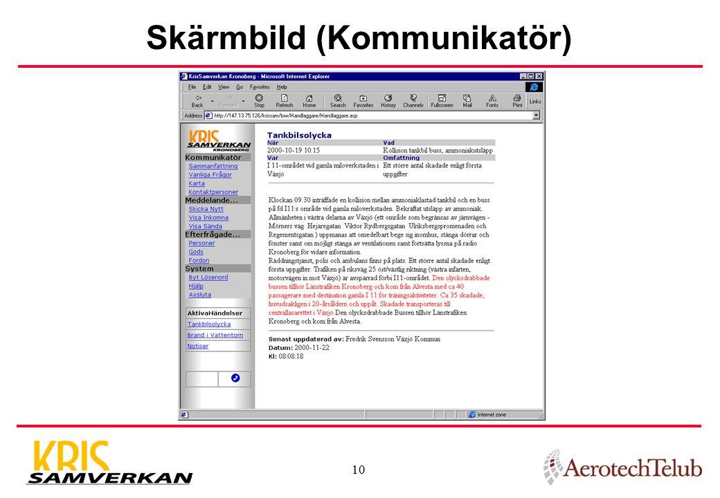 Skärmbild (Kommunikatör)