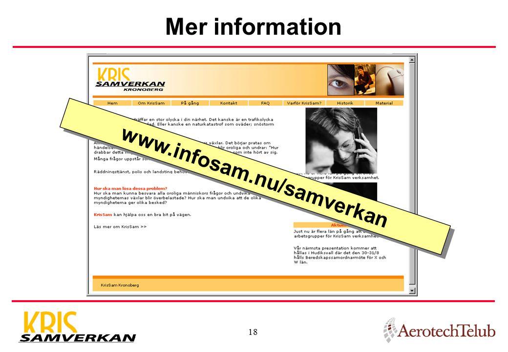 Mer information www.infosam.nu/samverkan