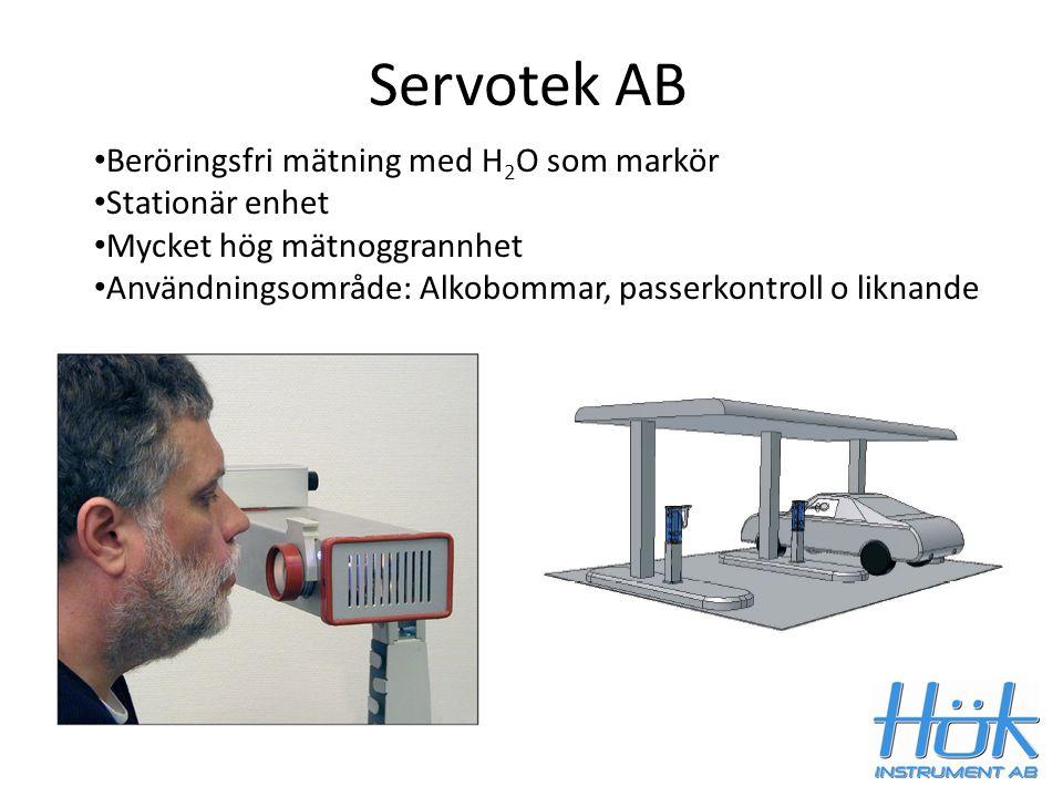 Servotek AB Beröringsfri mätning med H2O som markör Stationär enhet