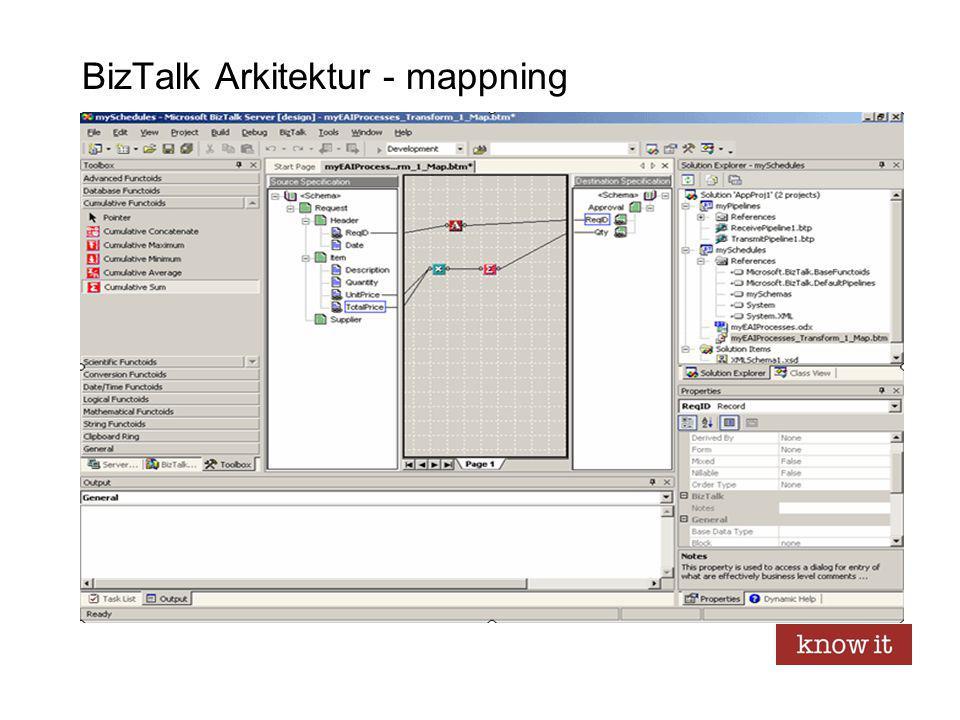 BizTalk Arkitektur - mappning