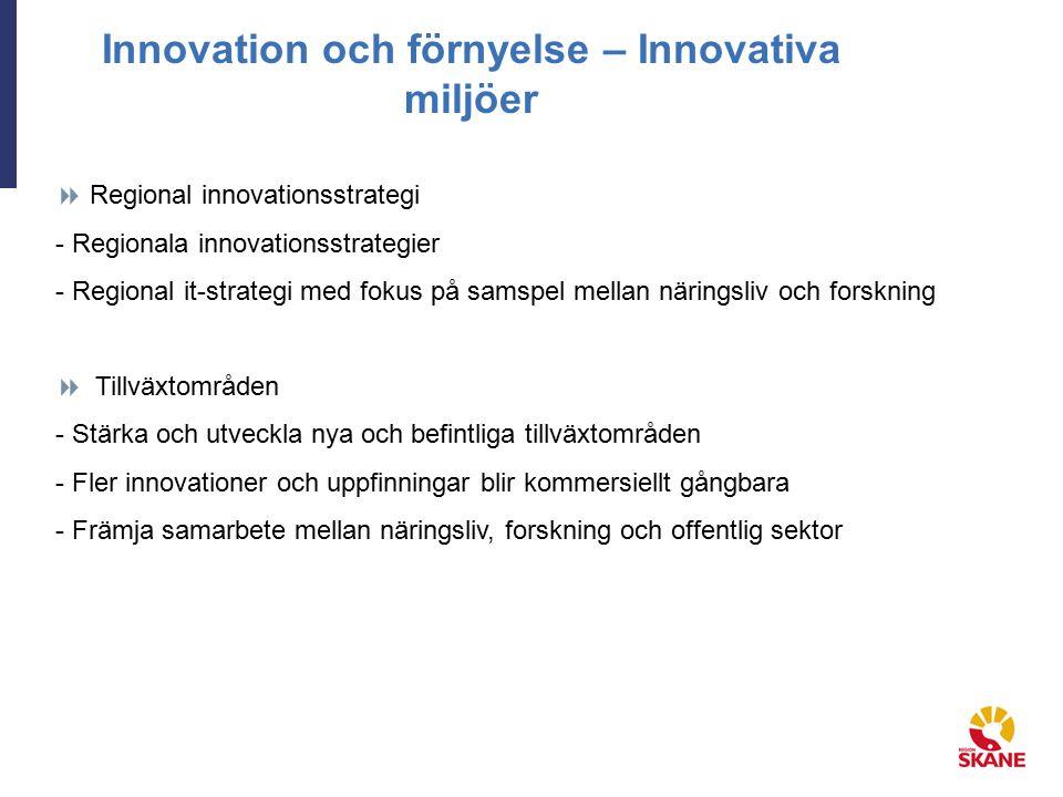 Innovation och förnyelse – Innovativa miljöer