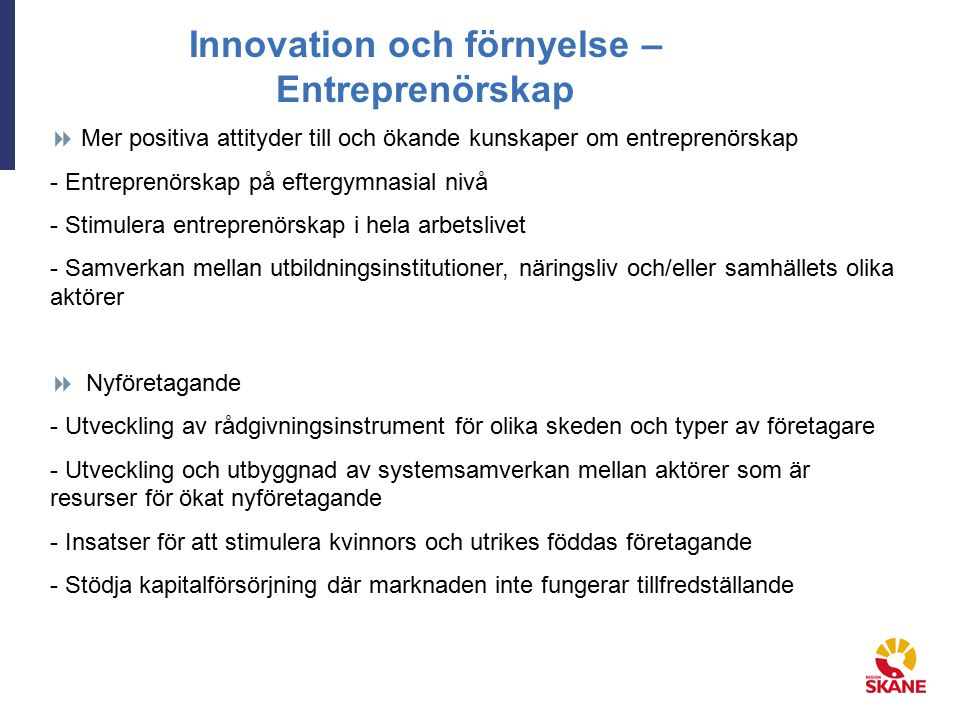 Innovation och förnyelse – Entreprenörskap