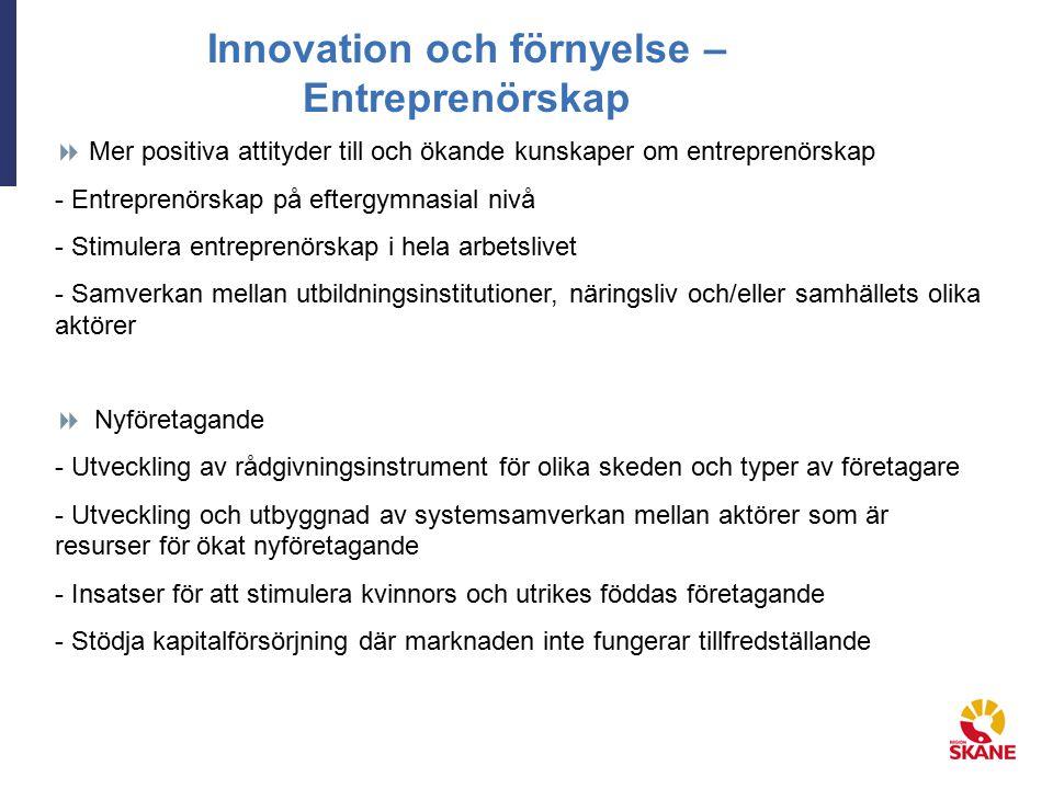 Innovation och förnyelse – Entreprenörskap