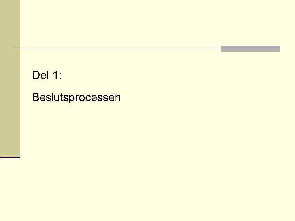 Del 1: Beslutsprocessen